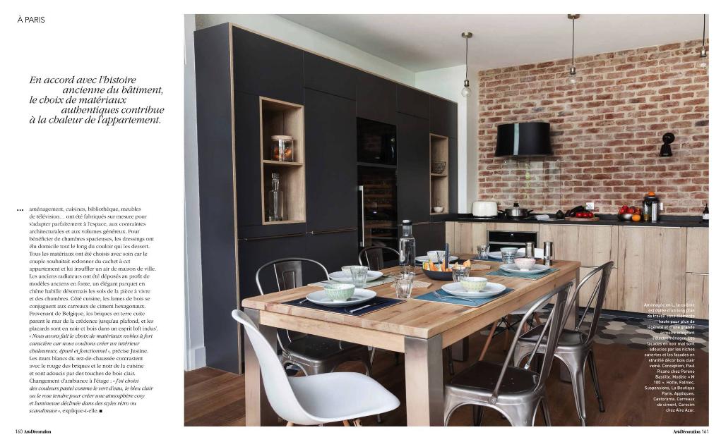 Cuisines design haut de gamme_Paul et benjamin_article Art&Décoration_Octobre 2017