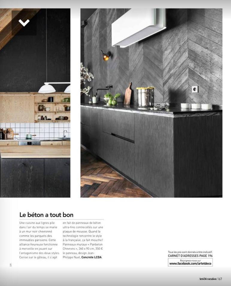 Cuisines design haut de gamme_Paul et benjamin_article Art et Décoration_janvier_février_2018
