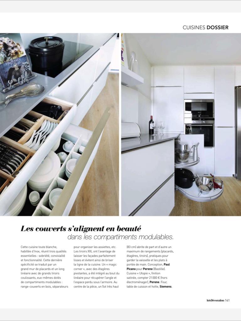 Cuisines design haut de gamme_Paul et benjamin_article Art&Décoration_octobre 2015