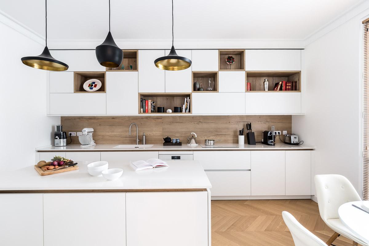 Cuisine réalisée par Paul & Benjamin, Créateurs de cuisines à Paris